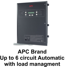 APC Brand  Up to 6 circuit Automatic  with load managment