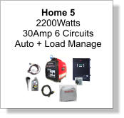Home 5 2200Watts 30Amp 6 Circuits Auto + Load Manage