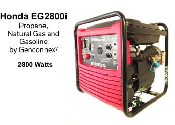 Honda EG2800i  Propane,  Natural Gas and  Gasoline  by Genconnexy  2800 Watts