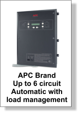 APC Brand  Up to 6 circuit  Automatic with  load management