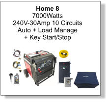 Home 8 7000Watts 240V-30Amp 10 Circuits Auto + Load Manage + Key Start/Stop