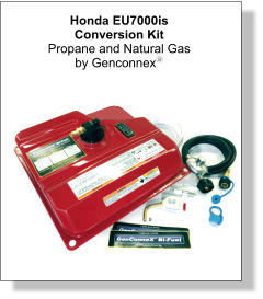 Honda EU7000is Conversion Kit Propane and Natural Gas  by Genconnexy