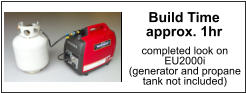 propane tank not included Build Time approx. 1hr completed look on  EU2000i (generator and propane  tank not included)