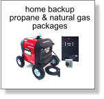 home backup propane & natural gas  packages