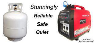 Safe propane by Genconnex®   Quiet  Reliable  Stunningly