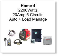 Home 4 2200Watts 20Amp 6 Circuits Auto + Load Manage