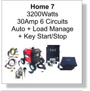 Home 7 3200Watts 30Amp 6 Circuits Auto + Load Manage + Key Start/Stop