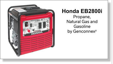 Honda EB2800i  Propane, Natural Gas and  Gasoline  by Genconnexy