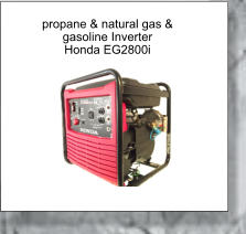propane & natural gas &  gasoline Inverter Honda EG2800i
