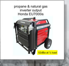 propane & natural gas inverter output Honda EU7000is 52dBa at ¼ load