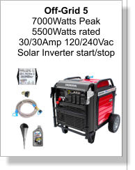 Off-Grid 5 7000Watts Peak 5500Watts rated 30/30Amp 120/240Vac Solar Inverter start/stop